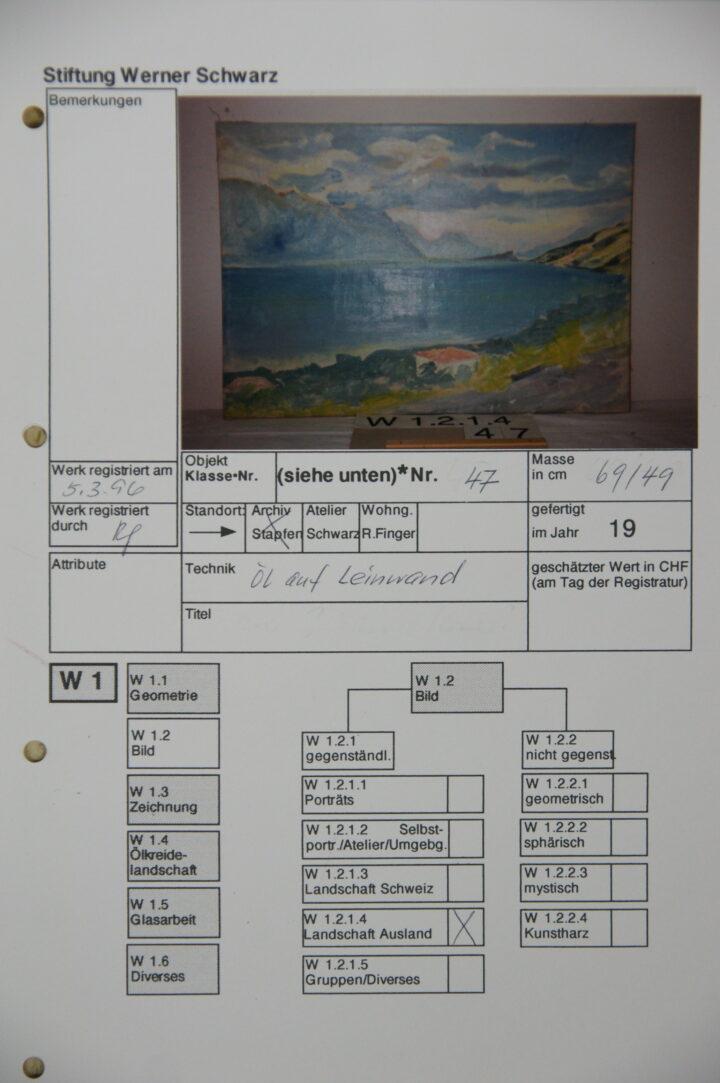 0201 3 Stiftung Werner Schwarz | Bern Schweiz